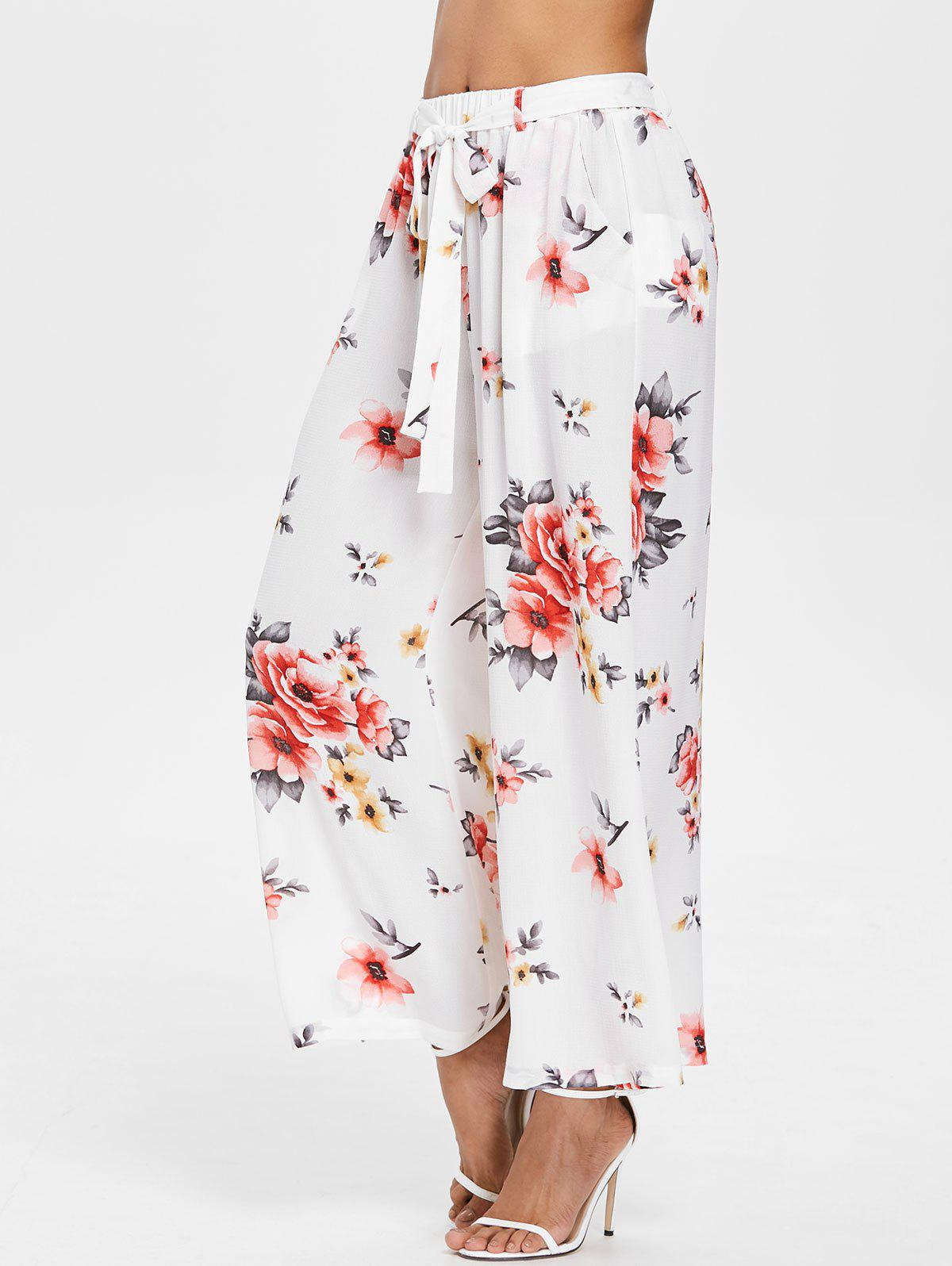 Buy High Rise Floral Ninth Palazzo Pants