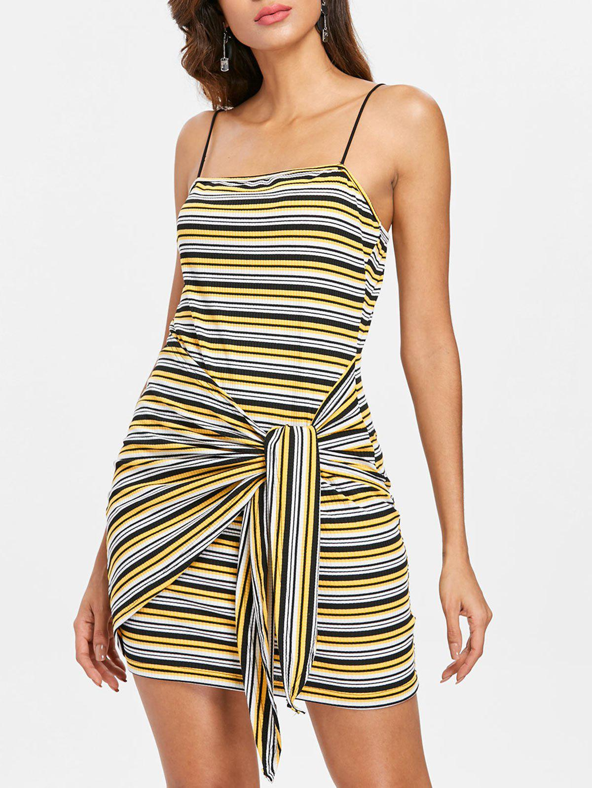 Outfit Tie Striped Bodycon Dress