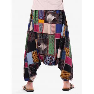 Tribal Geometric Print Casual Harem Pants -