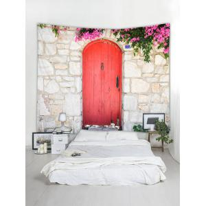 Brick Wall Door Pattern Tapestry Hanging Decor -