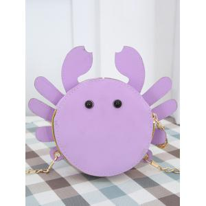 Metal Chain Crab Shaped Leisure Crossbody Bag -