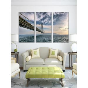 Bridge On the Sea Print Unframed Split Canvas Paintings -