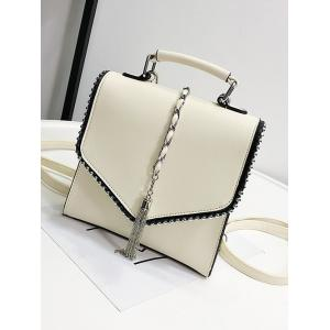 Multi Function Metal Tassel Chain Flap Backpack -