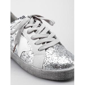 Dazzling Sequins Pentagram Lace Up Sneakers -