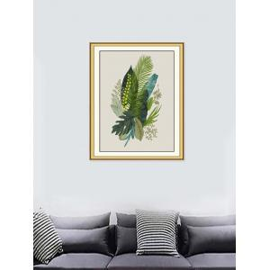 Tropical Leaves Print Wall Sticker for Bedrooms -