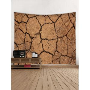 Wall Hanging Art Cracked Ground Print Tapestry -