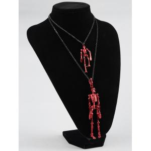 Layered Skulls Shaped Chain Necklace -