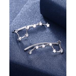 Silver Star Decorative Party Earrings -