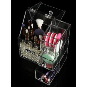 Multipurpose Makeup Brush Cosmetic Tools Acrylic Storage Box -