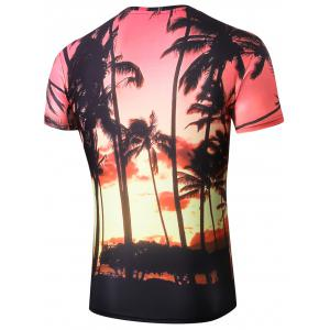 Hawaiian Style 3D Coco Palm Print T-shirt -
