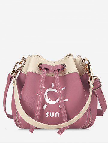 Best String Color Block Print Chic Crossbody Bag