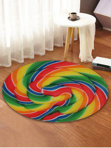 Shops Lollipop Printed Round Coral Fleece Floor Mat