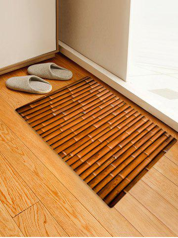 Chic Bamboo Board Print Flannel Floor Mat
