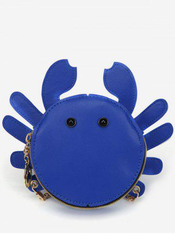 Outfit Metal Chain Crab Shaped Leisure Crossbody Bag