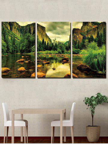 Store Mountains River Print Unframed Split Canvas Paintings