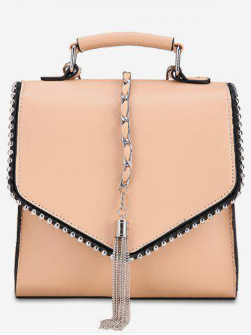 Unique Multi Function Metal Tassel Chain Flap Backpack