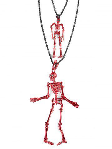 Outfits Layered Skulls Shaped Chain Necklace