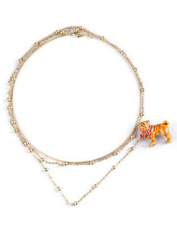 Online Dog Designed Brooch with Collar Necklace