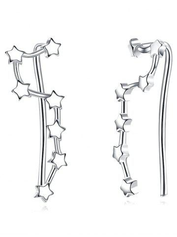 Discount Silver Star Decorative Party Earrings
