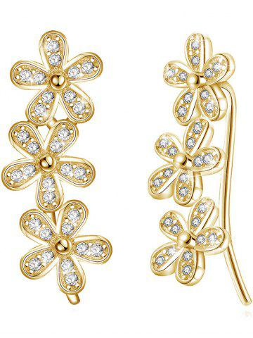 Online Colored Crystal Floral Decorative Earrings