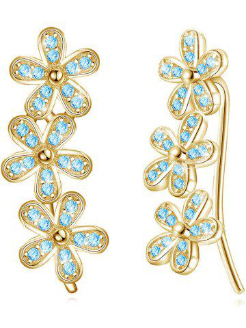 Shops Colored Crystal Floral Decorative Earrings