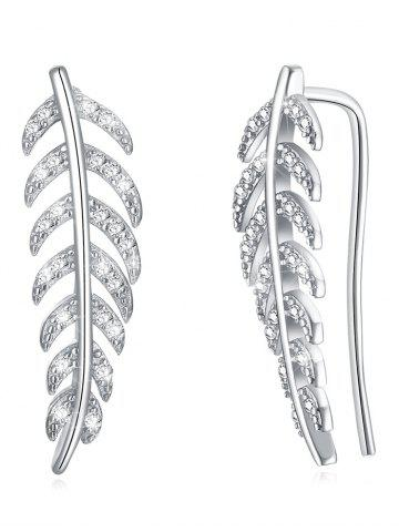 New Colored Crystal Leaf Decorative Pendant Earrings