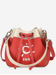 String Color Block Print Chic Crossbody Bag -