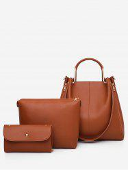 3 Pieces Casual Holiday Minimalist Tote Bag Set -