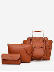 3 Pieces Minimalist Leisure Vacation Tote Bag Set -