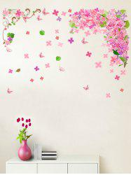 Butterfly Flower Leaf Removable Wall Sticker -