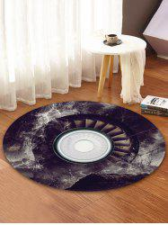 3D Music Record Print Round Coral Fleece Floor Mat -