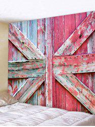 Wooden Door Tapestry Wall Hanging Decor -