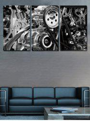 Mechanical Structure Print Unframed Split Canvas Paintings -