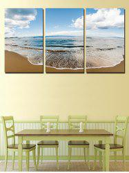 Fine Day Beach Print Unframed Split Canvas Paintings -
