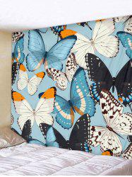 Wall Hanging Art Colorful Butterflies Print Tapestry -