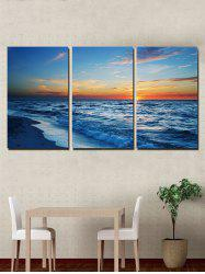 Beach Sunrise Print Unframed Split Canvas Paintings -