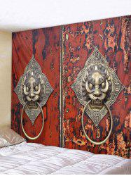 Wall Hanging Art Lion Door Knocker Print Tapestry -