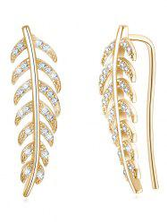 Colored Crystal Leaf Decorative Pendant Earrings -