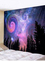 Wall Hanging Art Galaxy Forest Print Tapestry -