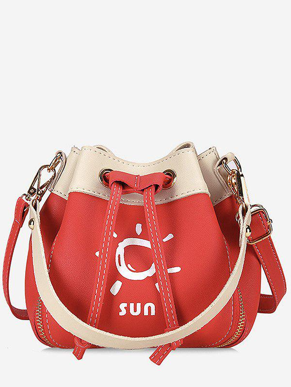 Fancy String Color Block Print Chic Crossbody Bag