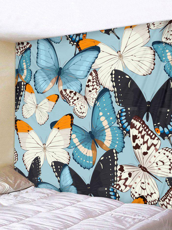 Chic Wall Hanging Art Colorful Butterflies Print Tapestry