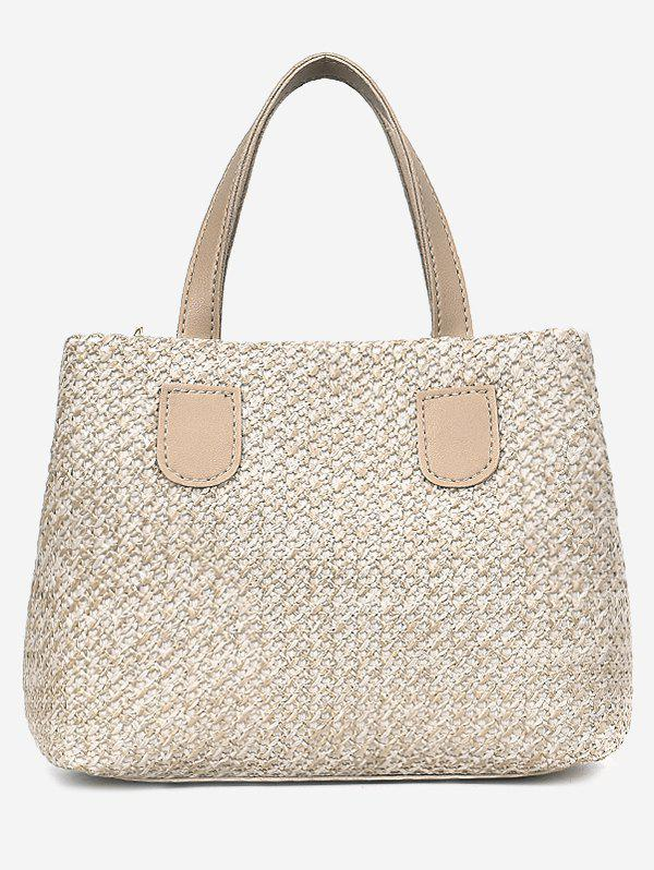 Online Color Block Minimalist Straw Outdoor Holiday Handbag