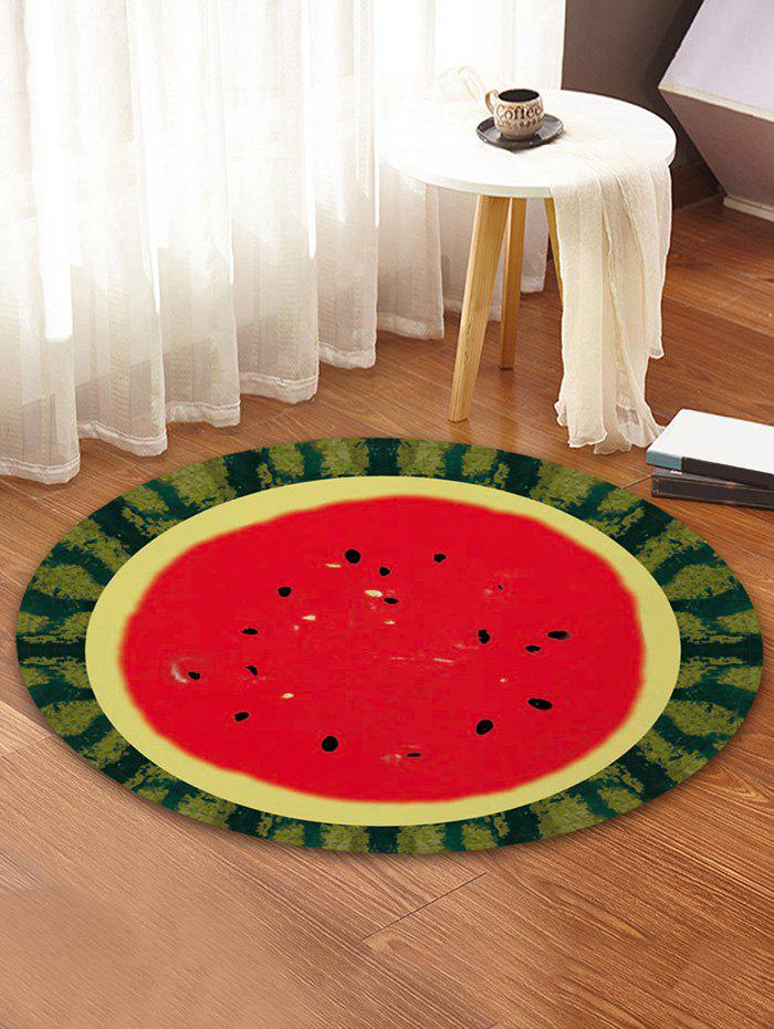 Sale Watermelon Printed Round Coral Fleece Floor Mat