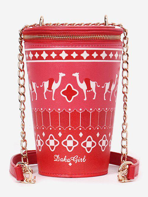 Outfits Zip Around Bucket Shaped Print Leisure Sling Bag