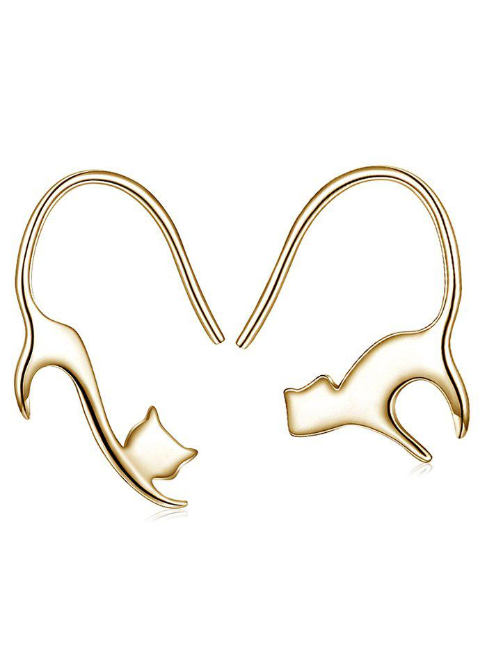 Affordable Naughty Cat Decorative Hook Earrings