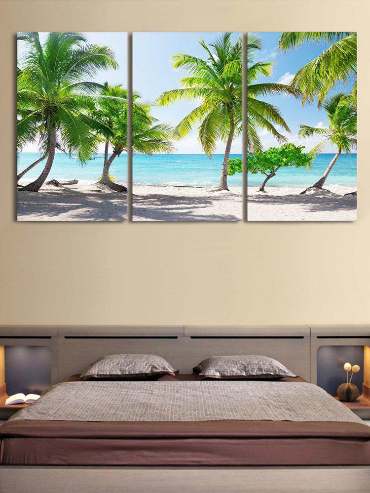 Fashion Beach Palm Trees Print Unframed Split Canvas Paintings