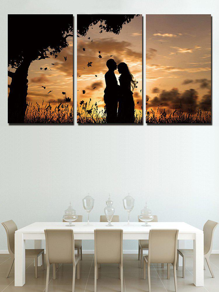 Outfits Gloaming Lover Print Unframed Split Canvas Paintings