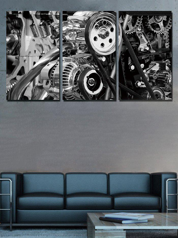Discount Mechanical Structure Print Unframed Split Canvas Paintings