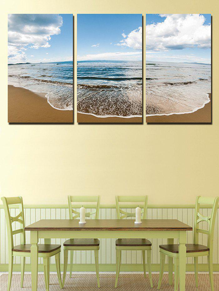 Buy Fine Day Beach Print Unframed Split Canvas Paintings