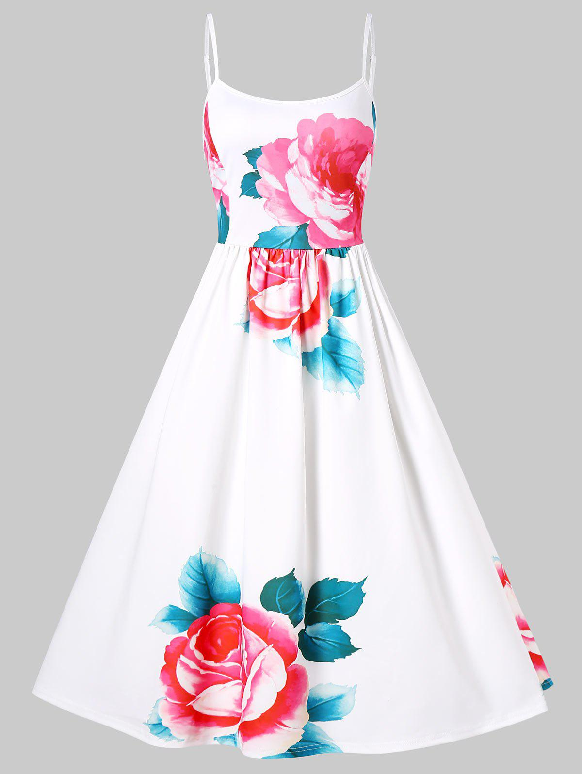 f81a80691e 56% OFF   2019 Vintage Floral Pin Up Dress